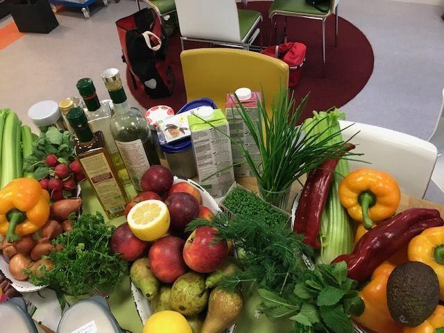 Leckeres saisonales Gemüse und Obst