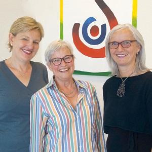 Hiltrud Boomgaarden, Lilo Wolf und Silke Fennemann (von links)